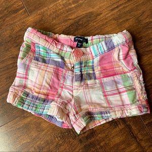 Baby Gap pink plaid shorts
